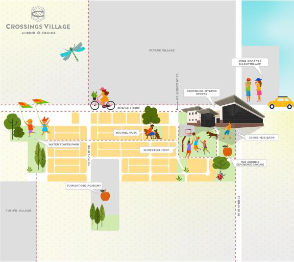 Crossings Village Map
