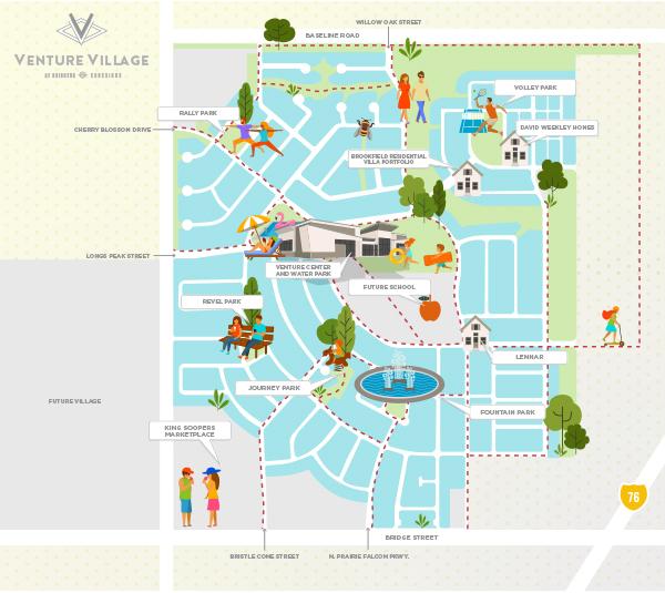 Venture Village Map