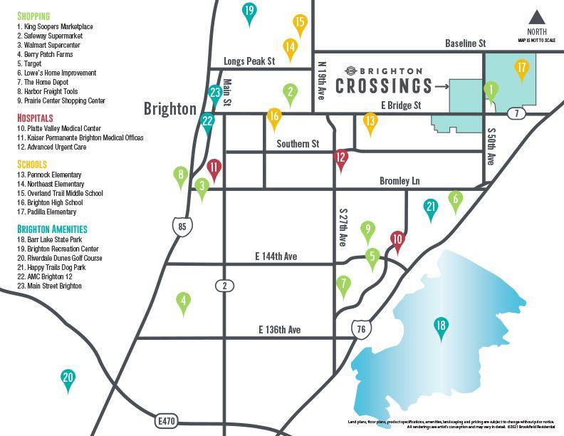 Brighton Crossings - Amenities Map